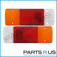 Pair Tail Light Suits Toyota 75 Series 85-99 Landcruiser Ute