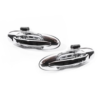 Outer Chrome Door Handles Toyota Landcruiser 100 Series 98-07 Rear LH+RH Set