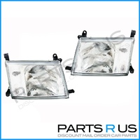Glass Headlights Toyota 100 Series Landcruiser 98 99 00 01 02 03 04 05 LH & RH SET