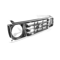 Grille 99-07 Toyota Landcruiser 70 (78 & 79) Series Chrome & Black Front Centre