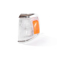 Corner Indicator Light Toyota Hilux 88-91 2WD Ute Chrome Clear & Amber LHS Left