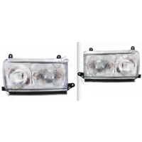Headlights 80 Series Left Right Pair 90-94 Toyota Landcruiser Sahara Glass