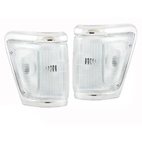 Clear Corner Lights 91-97 Toyota Hilux 4WD Chrome SR5