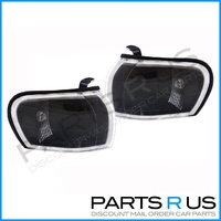 Crystal Black Corner Lights 93-00 Subaru Impreza WRX STI