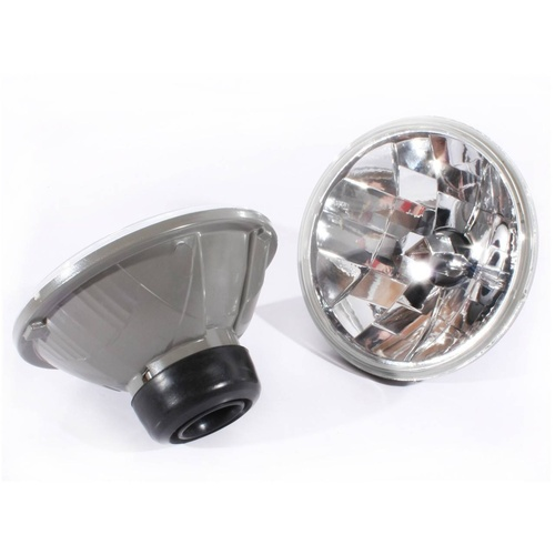"7"" Inch Round Clear Glass Lens H4 Head Lights Crystal Semi Sealed Universal Lamp"