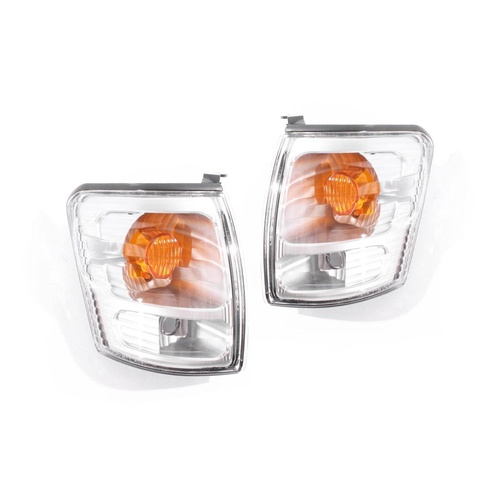 Toyota Hilux 01-05 LN & RZN 2WD Ute Clear Amber LH+RH Set Corner Indicator Lamps